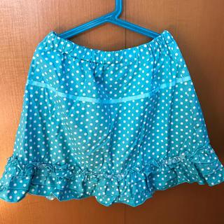 ジーユー(GU)の水玉 フリル スカート 150センチ(スカート)