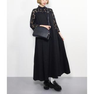 メルロー(merlot)のmerlot plus スタンドカラー バックリボン ドレス ワンピース(ロングドレス)