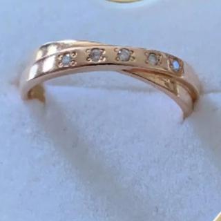 ジュエリーツツミ(JEWELRY TSUTSUMI)のk14 ダイヤリング(リング(指輪))