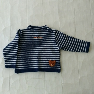 ミキハウス(mikihouse)のミキハウス 90 アンゴラ入りセーター 日本製 紺×白(ニット)