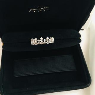 アーカー(AHKAH)のAHKAH アーカー ティアラリング k18 ホワイトゴールド ダイヤモンド (リング(指輪))