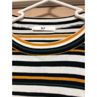 スライ(SLY)のsly ボーダーTシャツ(Tシャツ(長袖/七分))