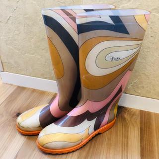 エミリオプッチ(EMILIO PUCCI)のEMILIO PUCCIレインブーツ36 エミリオプッチ長靴24センチ(レインブーツ/長靴)