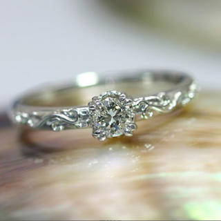 k18WG ダイヤモンドリング 新品仕上げ済(リング(指輪))