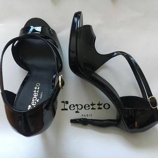 レペット(repetto)の【新品】日本未発売 reppeto レペット バレリーナヒール エナメルパンプス(ハイヒール/パンプス)