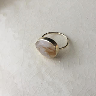 【美品】ゴールドルチルクォーツ リング 指輪(リング(指輪))