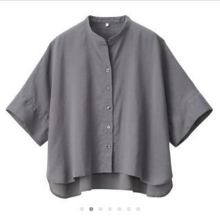 ムジルシリョウヒン(MUJI (無印良品))のインド綿 バスケット織 五部袖ブラウス(シャツ/ブラウス(半袖/袖なし))