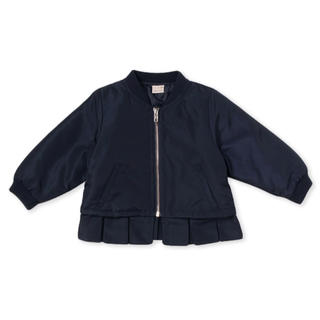 petit main - 新品♡プティマイン 120 裾フリルブルゾン ネイビー