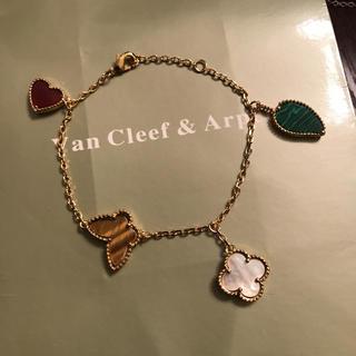 Van Cleef & Arpels - お花モチーフ  イエローゴールドブレスレット