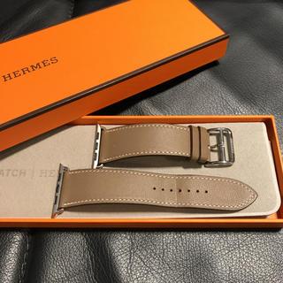 エルメス(Hermes)の【美品】純正 入手困難色 AppleWatch HERMES レザーベルト 42(腕時計(デジタル))
