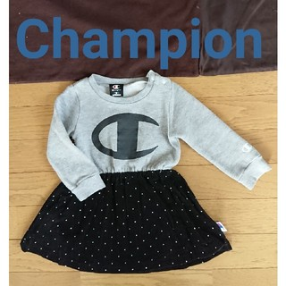 チャンピオン(Champion)のドット ロゴ ワンピース 90cm キッズベビー女の子Chmpionチャンピオン(ワンピース)