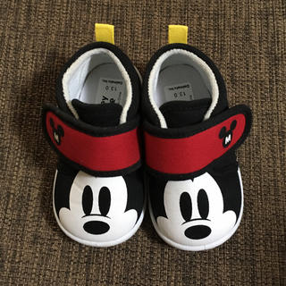 ディズニー(Disney)の【美品】ミッキー ベビー靴  13cm 履きやすい 中敷き外せます(その他)