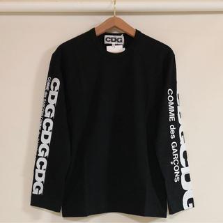 コムデギャルソン(COMME des GARCONS)の送料込 新品 コムデギャルソン CDG エアラインロゴ ロングスリーブ 黒(Tシャツ/カットソー(七分/長袖))