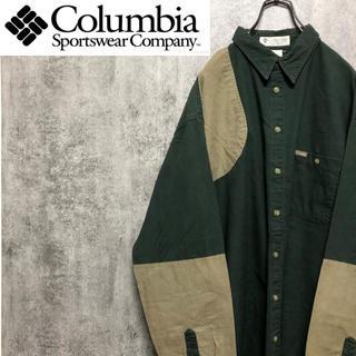 Columbia - 【激レア】コロンビア☆ロゴタグ入りビッグハンティングシャツ 90s