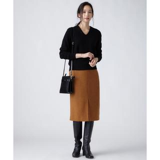 ニジュウサンク(23区)のMOON LAMBSWOOL COLOR TWEED タイトスカート(ひざ丈スカート)