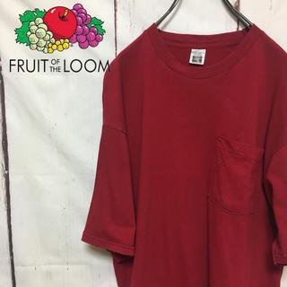 90s 古着 フルーツオブザルーム 90年代タグ 無地ビッグTシャツ ビンテージ(Tシャツ/カットソー(半袖/袖なし))