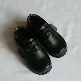 フォーマルシューズ ローファー 黒 14センチ 冠婚葬祭 靴 美品