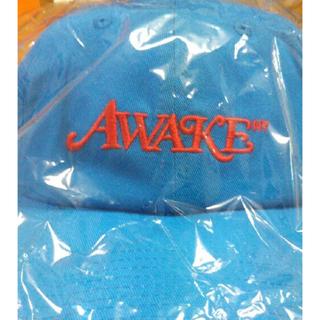 アウェイク(AWAKE)のAwake Girls don't cry cap キャップ 水色 青(キャップ)