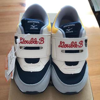 DOUBLE.B - 新品 未使用 DOUBLE.B ミキハウスxMizuno 靴