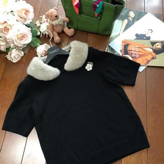 FOXEY - フォクシー♡ミンクカシミアセーター♡ブラック38♡