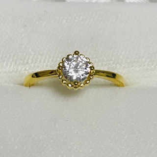 シンプル一粒リング レディース 指輪(リング(指輪))
