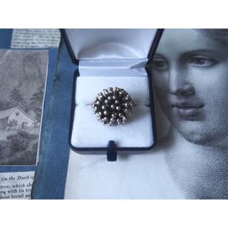 ヴィンテージ 1950's お花 シルバー リング 指輪 イギリス(リング(指輪))