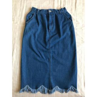 ナチュラルクチュール(natural couture)のnatural couture デニムスカート(ロングスカート)