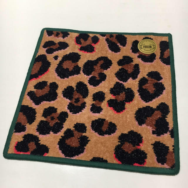 FEILER(フェイラー)のフェイラー✳️レオパード ハンカチ グリーン レディースのファッション小物(ハンカチ)の商品写真