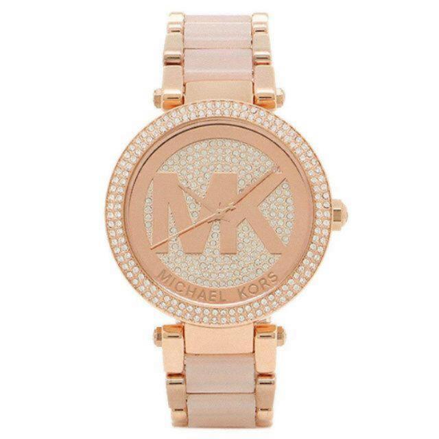 Michael Kors(マイケルコース)の腕時計 マイケルコース MK6176 ピンク レディースのファッション小物(腕時計)の商品写真