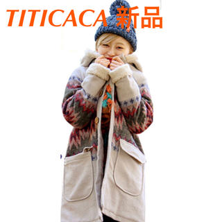 titicaca - ☆新品☆ チチカカ ダイダイ染め ボアコート