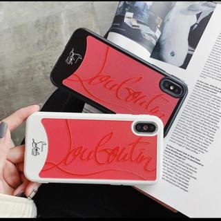 クリスチャンルブタン(Christian Louboutin)の人気です!売れてます!値下げしました!iPhoneケース X XS 赤 黒(iPhoneケース)