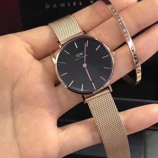 Daniel Wellington - [ダニエルウェリントン] BLACKゴールド腕時計ステンレス バングルセット