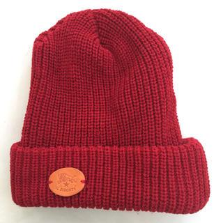 IL BISONTE - イルビゾンテ ニット帽赤