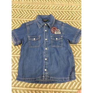 コムサイズム(COMME CA ISM)のデニムシャツ キッズ コムサ 100(Tシャツ/カットソー)