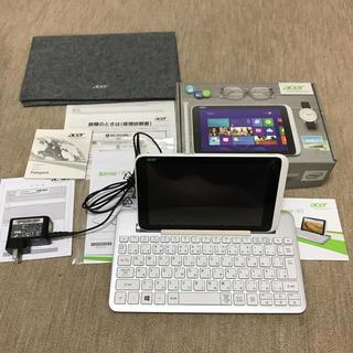 エイサー(Acer)のacer Iconia WINタブpc 専用BluetoothK/B付(タブレット)