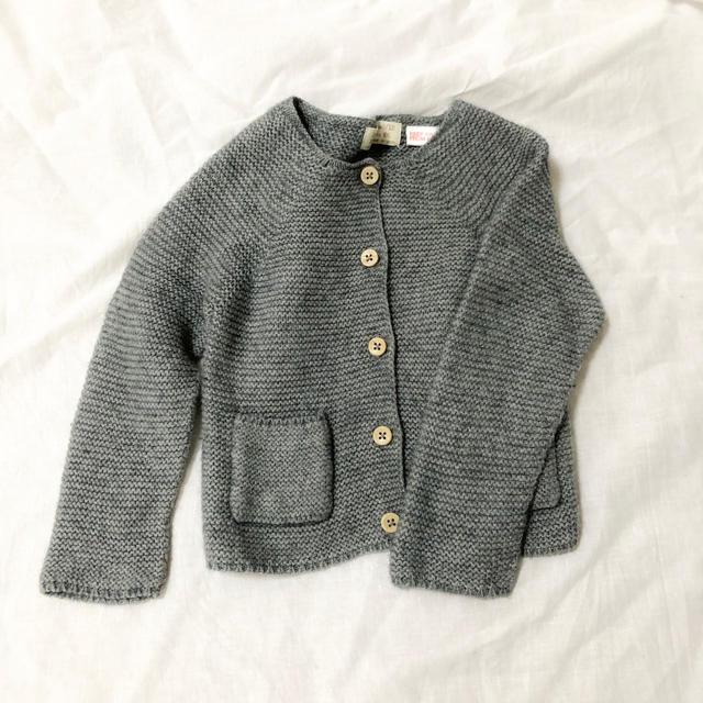 ZARA(ザラ)のZARA baby カーディガン グレー キッズ/ベビー/マタニティのベビー服(~85cm)(カーディガン/ボレロ)の商品写真