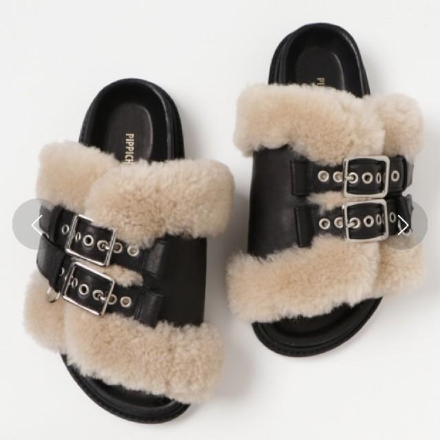 UNITED ARROWS(ユナイテッドアローズ)のPippichic ムートンファーサンダル レディースの靴/シューズ(サンダル)の商品写真