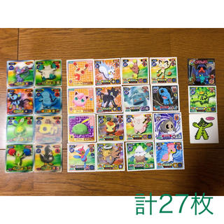 ポケモン(ポケモン)のポケモンシール(3Dの特殊シール有り) 27枚(キャラクターグッズ)
