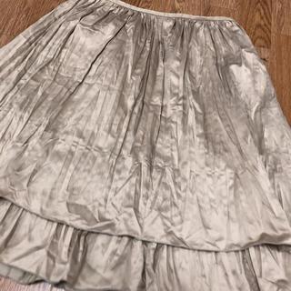 コムサイズム(COMME CA ISM)のコムサ シャンパンゴールド スカートM(ひざ丈スカート)