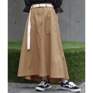 w closet - ガチャベルト付きフレアスカート