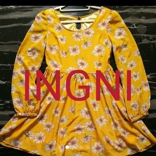 イング(INGNI)の花柄ワンピース(ミニワンピース)