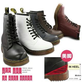 新品送料無料♪超人気☆マーチン系レースアップインヒールブーツ☆(ブーツ)
