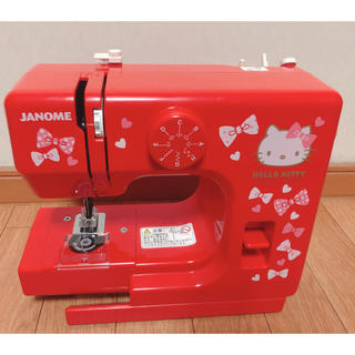 ハローキティ(ハローキティ)のジャノメ コンパクトミシン ハローキティー 赤色 KT-R(日用品/生活雑貨)