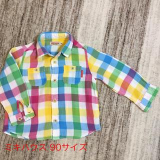 ミキハウス(mikihouse)のミキハウス Miki house 90サイズ 長袖シャツ 綿100%(ブラウス)