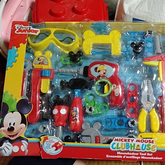 Disney(ディズニー)のミッキーマウス 工具セット キッズ/ベビー/マタニティのおもちゃ(その他)の商品写真