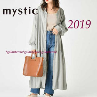 mystic - mysticミスティック ギャザー使いロングワンピース  オリーブ