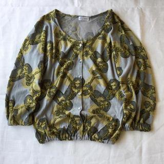 ミナペルホネン(mina perhonen)の【Sally Scott】ジャガード織りのデザインカーディガン M(カーディガン)