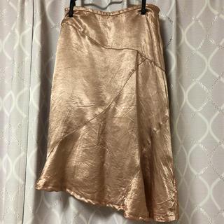 ザラ(ZARA)のサテンスカート ピンク(ひざ丈スカート)