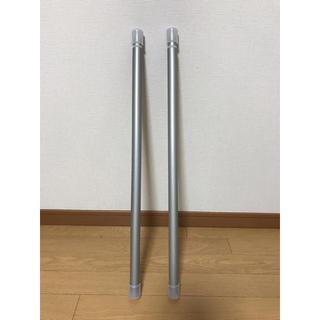 ムジルシリョウヒン(MUJI (無印良品))の無印良品  スチールアジャスターポール・太・M/シルバー 70~120cm(その他)