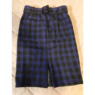 スライ(SLY)のチェック柄 スカート(ひざ丈スカート)